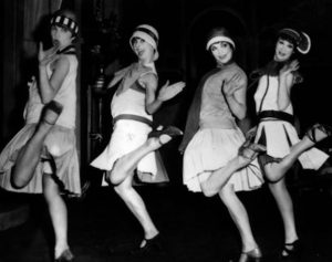 Dancing Flappers in 1920s