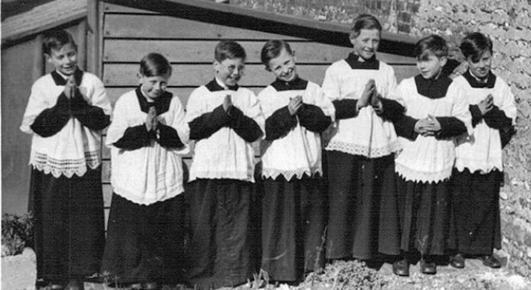 Catholic Altar Boys in surplices