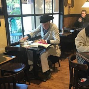 Colonial-Williamsburg-interpreter-in-Aroma's-coffee-shop