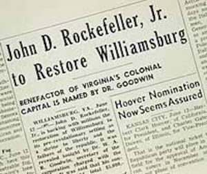 John-D.-Rockefeller-Restores-Williamsburg-Newspaper