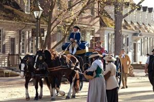 Colonial-Williamsburg-Carriage-on-Duke-of-Gloucester-Street
