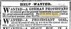 No Irish Need Apply Ad