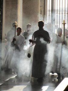Catholic rituals with incense