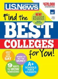 US News and World Report College Ranking Guide